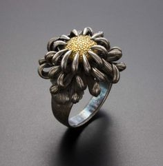This ring and the gold version of the same design are made in Japan around 30 years ago.    (C) Kazuhiko Ichikawa collection
