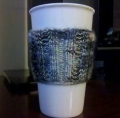 How to knit a coffee cup sleeve #Christmas #thanksgiving #Holiday #quote