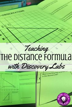Step by step guide to introducing students to the distance formula with discovery. Using a discovery lab to kick off the unit guides students through making observations, finding patterns, and building a base of understanding for the concept.