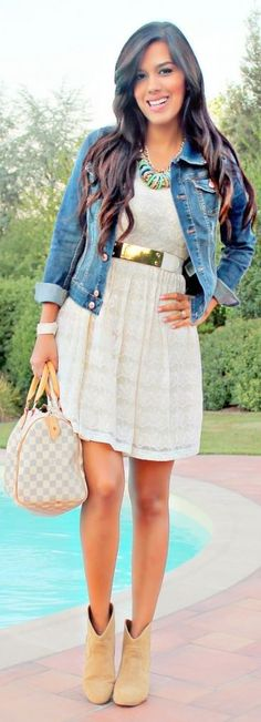 1                                                  Denim Jacket & Lace                       by Be Chic And Cheap