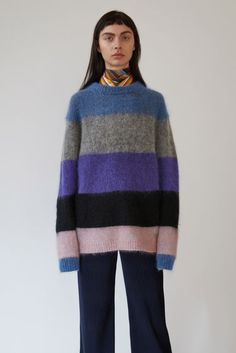 Acne Studios Albah Mohair Multi Mix Stripe 375x