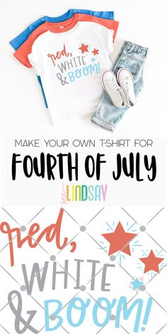 Make your own 4th of July shirt using your Cricut or Silhouette. Grab the free Independence Day SVG files here to make the perfect Fourth of July crafts. #seelindsay #totallyfreesvg #freesvg #fourthofjulycraft #4thofjulycraft #cricut #silhouette #irononvinyl #diyshirt #handmadeshirt