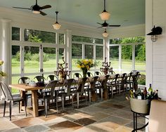 Now thats a table....  Porch Chairs For Garden Design, Pictures, Remodel, Decor and Ideas - page 8