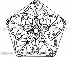 Items similar to Mandala Flower 5 - Printable Color Page Large ...