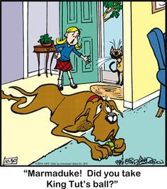Marmaduke Comic Strip  for Oct/30/2014  on GoComics.com