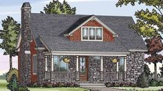 Southern House Plan with 1505 Square Feet and 3 Bedrooms(s) from Dream Home Source | House Plan Code DHSW72578