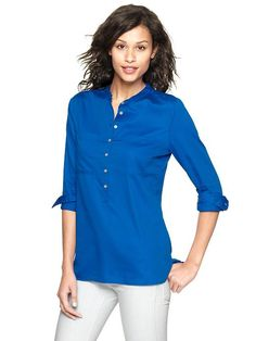 Gap | Sateen popover pocket shirt