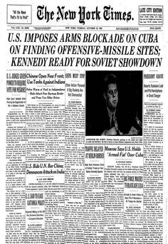 Cuban Missile Crisis in the New York Times, October 1962