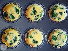 Mini Crustless Spinach Quiches - Baby Led Weaning Ideas