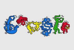 Google Doodle Celebrates Keith Haring's Birthday