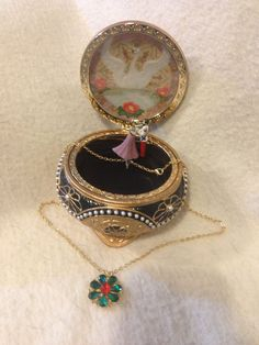 Nicholas & Alexandra Anastasia Trinket Box w/ Necklace