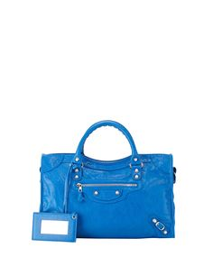 Giant 12 City Bag, Blue - Balenciaga
