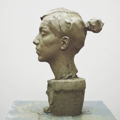 Sculpture Head, Human Sculpture, Bronze Sculpture, Traditional Sculptures, Recycled Art, Photo Reference, Clay Art, Sculpting, Contemporary Art