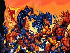 X-men Comic | Comics - X-Men - Wolverine - The Thing - Beast - Mr Fantastic ...