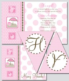 Your beach-loving mother-to-be will adore this bun in the sun theme for her baby shower! This theme also is perfect for a birthday party at the beach!