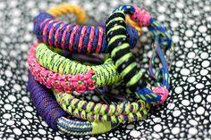 neon bracelets by @Elizabeth Monson #cultureclub #jewelry
