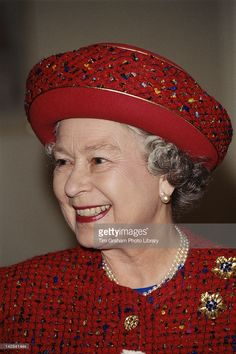 Queen Elizabeth II visits the United Westminster Almshouses on Rochester Row in London, 22nd February 1996.