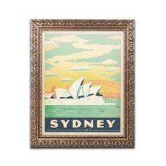 Sydney, Australia by Anderson Design Group Framed Graphic Art