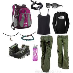 Hiking Attire by Kristy Jones on Polyvore featuring The North Face, Uniqlo, Keen Footwear, Ralph Lauren, ASOS and CamelBak