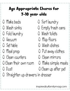 Age Appropriate Chores for Kids chores for kids 8 Year Old Chores, Chores For Kids By Age, Age Appropriate Chores For Kids, Toddler Chores, Kid Chores, Toddler Boys, Toddler Learning, Printable Chore Chart, Chore Chart Kids