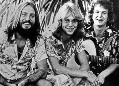 The folk/rock group America originally consisted of three members: Gerry Beckley, Dewey Bunnell, and Dan Peek. The band was formed in Englan. Rock Music, My Music, Ventura Highway, Sister Golden Hair, America Band, Rock Groups, Ballet, No Name, Pearl Jam