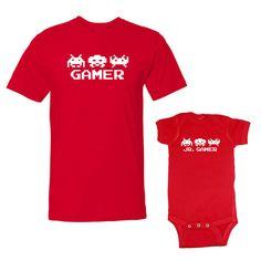 We Match!™ Gamer & Jr. Gamer Adult T-Shirt & Baby Bodysuit Set