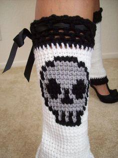 Skull Leg Warmers