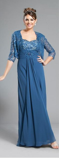 f1dcdca37094 Stylish Long Mother of Bride dress in color Blue, Silver, Black & more