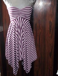 Description of how to make this.  I like the way the stripes fall.  It would make a good dress to skirt item for travel.