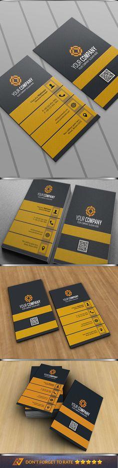 Modern Corporate Business Card by Sukidesu on @creativework247