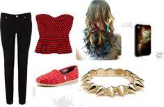"""Rojo"" by pau-gaga ❤ liked on Polyvore"