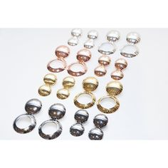 Earrings from the Astrid Dome collection here in Silver, Rose Gold, Gold and Oxidised Silver.