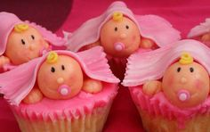 Pink themed baby shower cupcakes - Bing Images