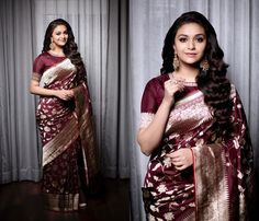 This is The Trending Blouse Style To Wear With Silk Sarees Blouse Designs High Neck, Bridal Blouse Designs, Saree Styles, Blouse Styles, Indian Sarees, Silk Sarees, Banarsi Saree, Saris, Indian Bridesmaid Dresses