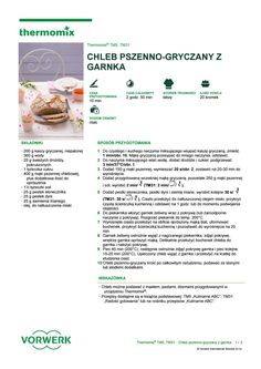 Chleb pszenno gryczany z garnka Make It Simple, Cooking, Kitchen, Brewing, Cuisine, Cook