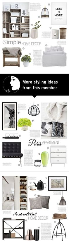"""Simple Home Decor"" by c-silla on Polyvore featuring interior, interiors, interior design, home, home decor, interior decorating, Nearly Natural, Crate and Barrel and Bloomingville"