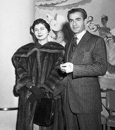 Princess Soraya and Shah Mohammed Reza Pahlavi https://www.pinterest.com/disavoia22/
