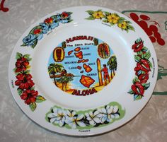 Vintage Aloha Hawaii Decorative Plate by FelicesFinds on Etsy