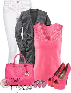 """""""Think Pink!!!"""" by cindycook10 on Polyvore"""
