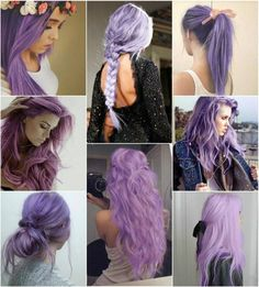 viele interessante bilder von frauen mit lila haaren