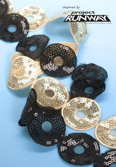 "Simplicity Creative Group - 1-1/4"" Sequin Circle. $6.99/yd"