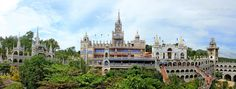 """The Panorama of the Monastery of the Holy Eucharist or commonly known as """"Birhen sa Simala"""" The Virgin Mary of Simala. Places Around The World, Around The Worlds, Freedom Wall, Eucharist, Cebu, Land Scape, Old Houses, Holi, Philippines"""