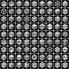 23162147-set-of-81-vector-cube-icons-Stock-Vector-cube.jpg (1300×1300)