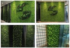 Artificial hedges for office hall wall decor, various logo, interior wall can be decorated by artificial plants hedge