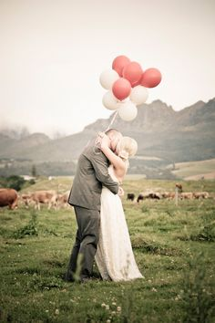 """Instead of flowers the flower girl could carry a """"bouquet"""" of pretty pastel colored balloons.   (""""Up"""" is our movie.)"""