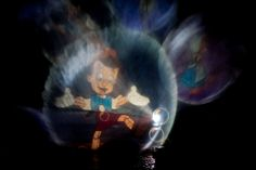 Fantasmic! Pinocchio's image projected onto a screen made of water mist. Fantasmic is a nighttime spectacular at Disney's Hollywood Studios. This wonderful show is not offered every night - book your trip with www.buildabetterm... and we'll provide a itinerary that puts in the best park for each day of your trip and makes sure you don't miss incredible experiences like this. Photo by Monica Bryant - one of our wonderful Disney-focused travel agents.