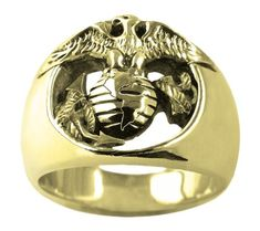 Marine Corps ring By Mike Carroll 18K Gold 13 -- Be sure to check out this awesome product.