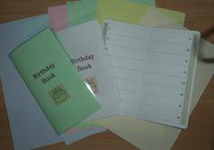Travellers Notebook Style  Handmade Birthday Book by DesignedByCaz