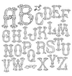 Whimsical hand drawn alphabet letters vector by Baksiabat on VectorStock®