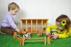 Wooden Toy Farm, Wooden Cradle, Toy Barn, Farm Barn, Toddler Toys, Kids Toys, Handmade Wooden Toys, Eco Friendly Toys, Wooden Dollhouse